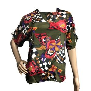 NWT Che Studio Dope Polyester Blouse size Small